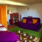La salle de relaxation à Aubiet